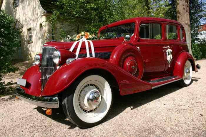 Pontiac-Eight-Sedan Hochzeitsauto Bielefeld