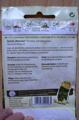 Info zu Spinat Matador