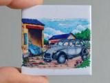 Magnet Citroën 2cv Grise