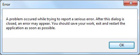 an error appeared
