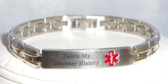 Internet age medic alert bracelet