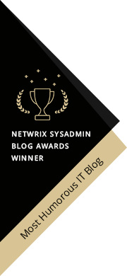 2017 SysAdmin Blog Award Winner