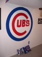 The Cubs logo in my first basement