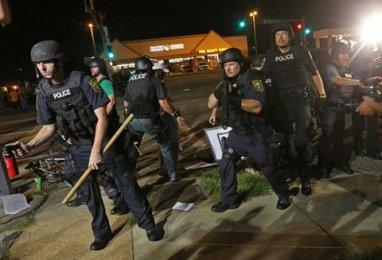 Ferguson aggressive and violence cops