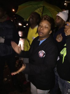 Mike Brown's Mom joins protestors