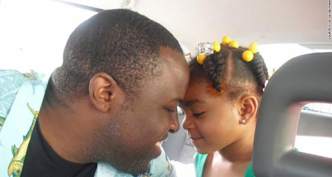Chinedu Okobi with his daughter.