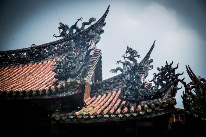 Longshan Temple roof.