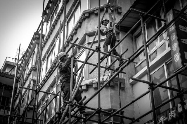 Kangding's finest construction workers.