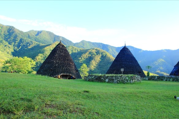 Traditional Manngarai houses of Wae Rebo.