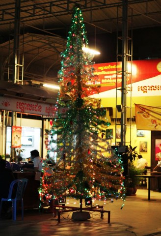 Christmas in Cambodia.