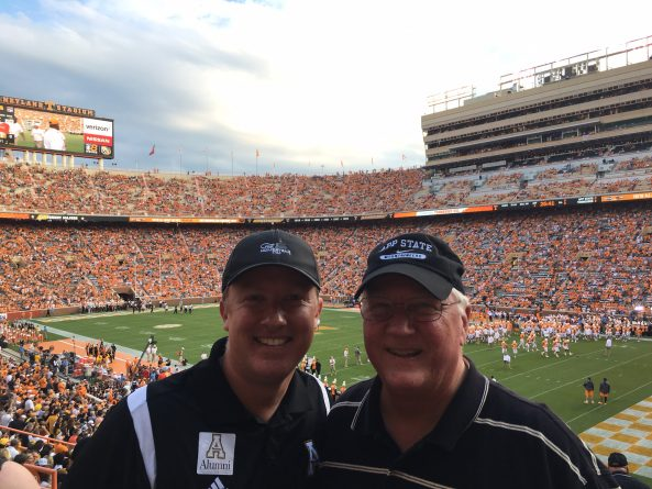 Appalachian State vs Tennessee Road Trip, Father Son Trip, 2016
