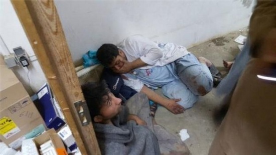 Wounded MSF staff after the US/NATO bombing of its Kunduz hospital Photo: MSF