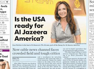 USA Today: Is the USA ready for Al Jazeera America?