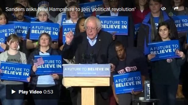 Bernie Sanders in Reuters video accompanying Dana Milbank's column