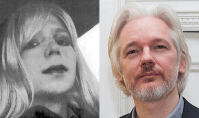 Chelsea Manning, Julian Assange