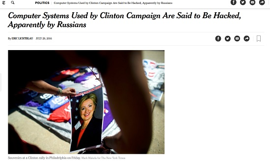 nyt russia clinton