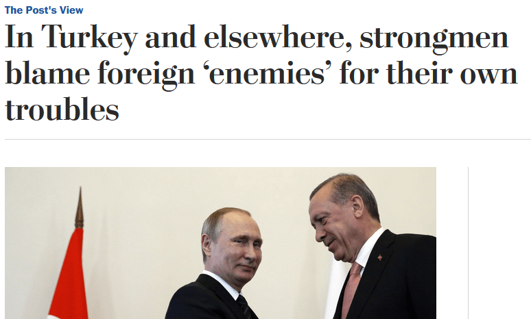 Washington Post: Strongmen Blame 'Foreign Enemies' for Their Own Problems