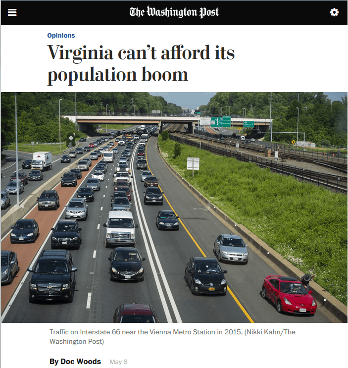WaPo: Virginia Can't Afford Its Population Boom