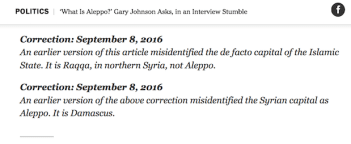 New York Times Aleppo corrections