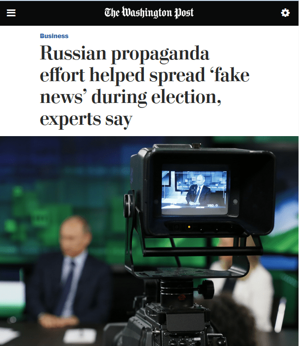 Russian propaganda effort helped spread 'fake news' during election, experts say