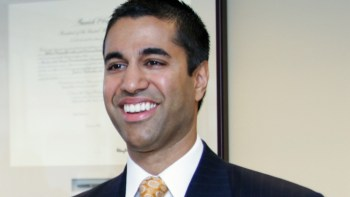 Ajit Pai being sworn in as an FCC commissioner (photo: FCC)