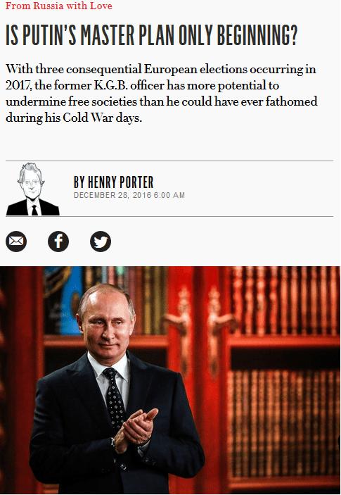 Vanity Fair: Is Putin's Master Plan Only Beginning?