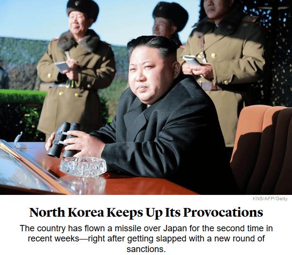 Atlantic: North Korea Keeps Up Its Provocations