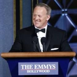 Former Trump spokesperson Sean Spicer at the Emmys. (photo: Trae Patton/CBS)