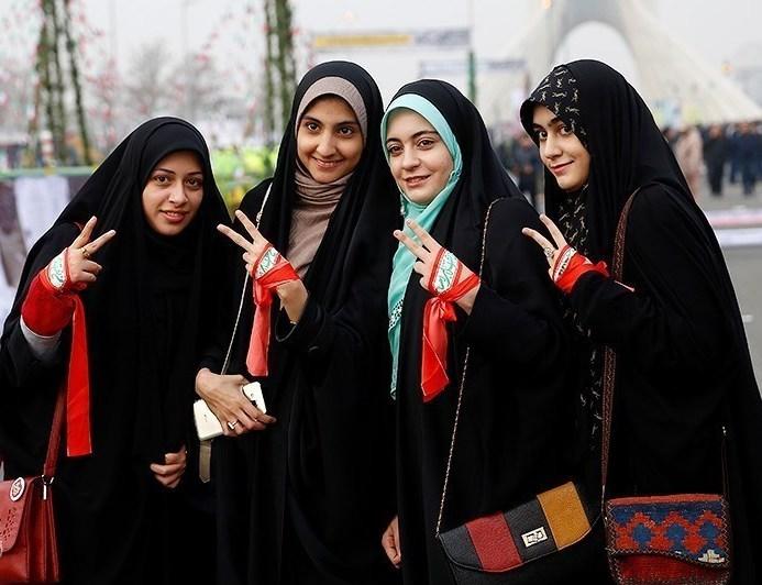 Young women in Iran