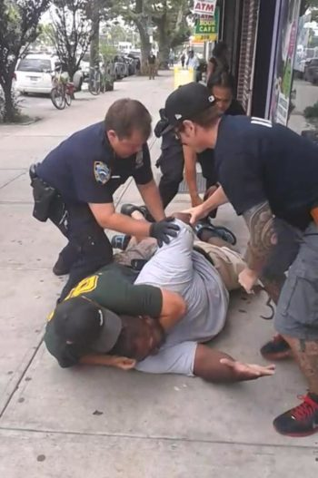 Image from Ramsey Orta's video of the killing of Eric Garner