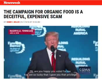 Newsweek: The Campaign for Organic Food Is a Deceitful, Expensive Scam