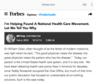 Forbes: I'm Helping Found a National Health Care Movement, Let Me Tell You Why