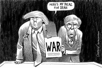 Image result for trump war cartoon