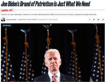 Daily Beast: Joe Biden's Brand of Patriotism Is Just What We Need
