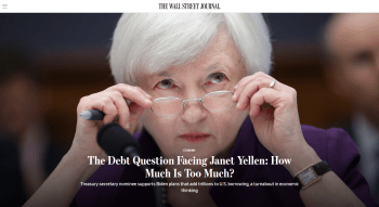 WSJ: The Debt Question Facing Janet Yellen: How Much Is Too Much?