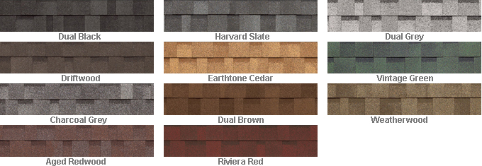 Iko Architectural Shingles Colors