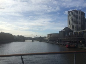 The Yarra with the mighty MCG in the background