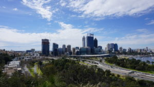 Perth city at large in the background.