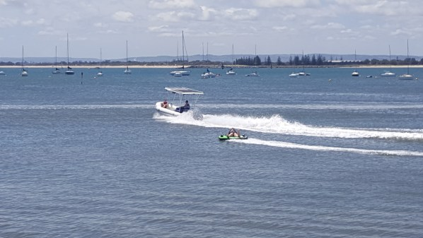 Water sports are popular in the Bay.
