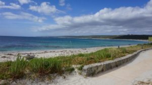 Gorgeous views are seen on tour, like this at Hamelin Bay
