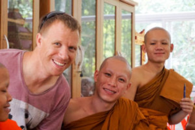 Teaching monks in Laos