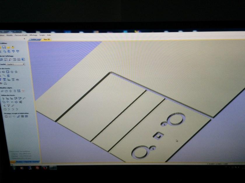dessin du boitier du raspberry avec la caméra infrarouge