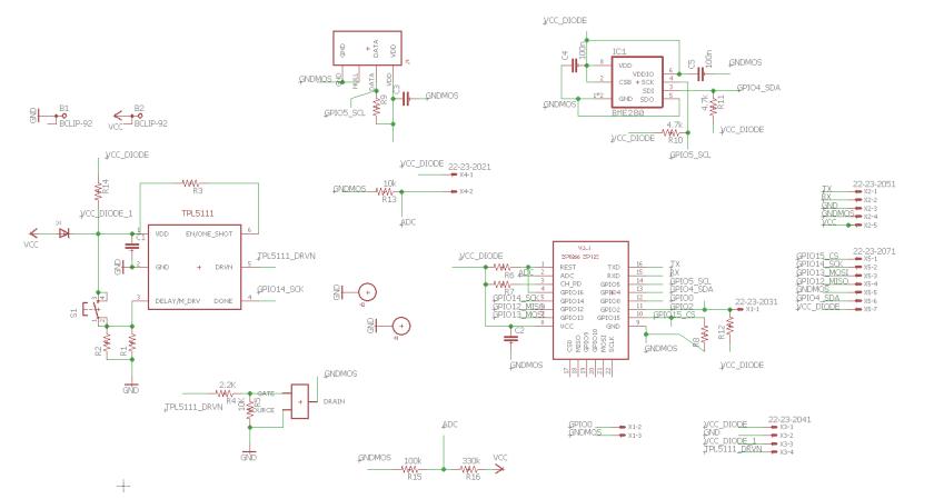 schématique du capteur wifi T/H version 2
