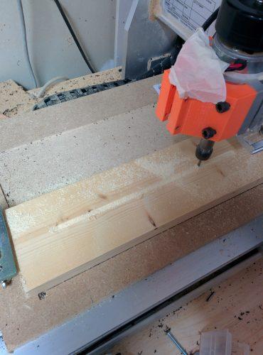Usinage du support en bois