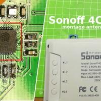 Sonoff 4CH R2 - Monter une antenne extérieure