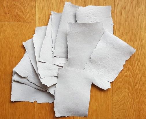 Papier recyclé maison