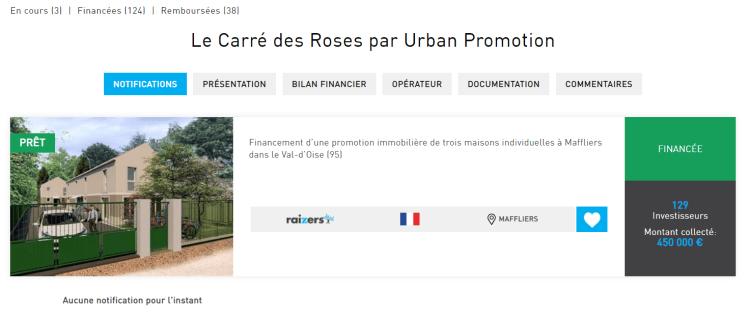 Un exemple de projet dans lequel Sebino a investi en crowdfunding immobilier avec Raizers