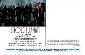 "Sholeh Janati ""Colorful"" opening reception"