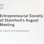 Entrepreneurial Society of Stamford's August Meeting