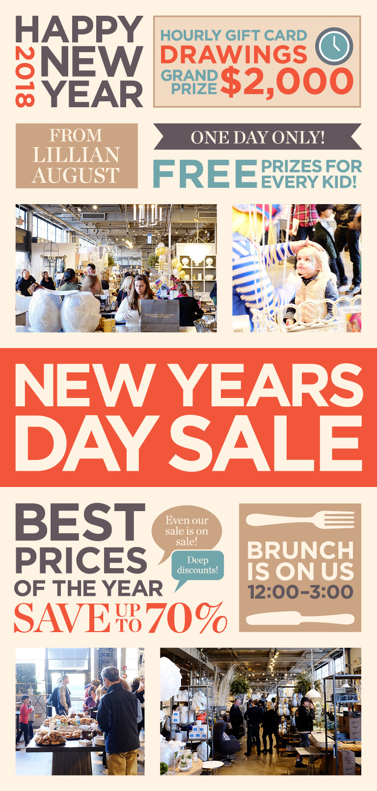 Celebrate New Year's Day Brunch at Lillian August